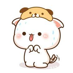 Cute Animal Drawings Kawaii, Cute Cartoon Drawings, Chibi Cat, Cute Chibi, Cute Couple Cartoon, Cat Couple, Kawaii Illustration, Anime Cat, Cute Doodles