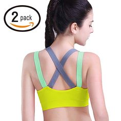e423c3806b HeartFor Racerback Sports Bras for Women - Padded High Impact Workout