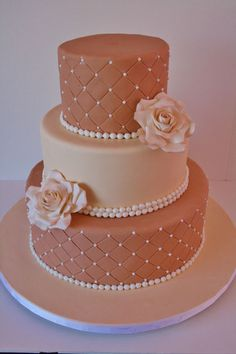 Wedding Cake, different colors of course.  Like the two shades and the simple design. Good border. Want flowers on top too. Natural flowers not icing for all.