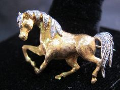 Rare Vintage 18k yellow gold and diamond Italian horse brooch in Jewelry & Watches, Fine Jewelry, Fine Pins & Brooches | eBay