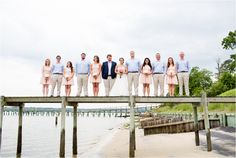 Blue and Pink Wedding on the River | Annamarie Akins Photography