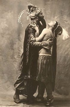 Adolf Bolm and Tamara Karsavina in Schéhérazade, 1910