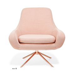 Softline apricot swivel curved chair from abc carpet and home