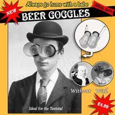 Items similar to Beer Goggles birthday card on Etsy New Goggles, Round Sunglasses, Mens Sunglasses, Birthday Cards, Beer, Etsy Shop, Trending Outfits, Handmade Gifts, Victorian