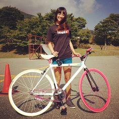 FIXED GEAR GIRL TAIWAN: Fixie girl japan♥