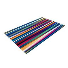 East Urban Home Danny Ivan Blurry Lines Area Rug Rug Size: 2' x 3'
