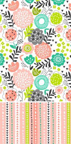 wendy kendall diseña - freelance diseñador patrón de superficie »flora jardín