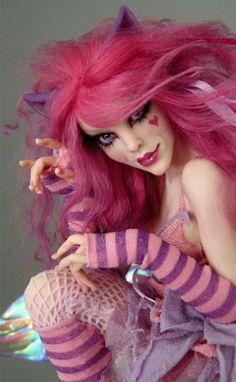Cheshire Cat Faerie - Nicole West Fantasy Art                                                                                                                                                     More