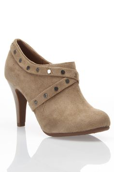 Studded Tan Bootie wish I could wear these!  Love them!