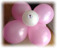 Decora tu fiesta - Flores con globos