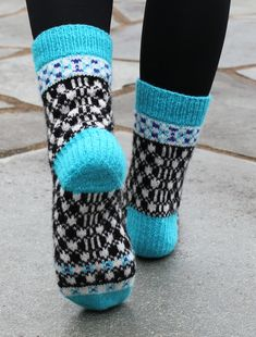 Ravelry: Puzzle Socks pattern by Aud Bergo Crochet Socks, Knitting Socks, Hand Knitting, Knit Crochet, Knit Socks, Fun Socks, Fair Isle Knitting, Slipper Boots, Ravelry