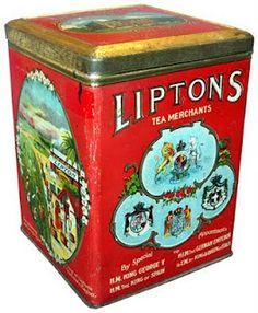 Lipton Tea Tin » Vieille canne rouge