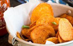 Sriracha Sweet Potato Chips [Vegan] | One Green Planet