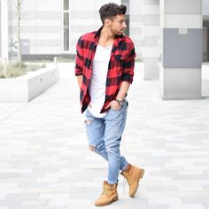 Timberland style boots mens - phillysportstccom - Home decor Moda Timberland, Timberland Outfits Men, Timbs Outfits, Timberland Stiefel Outfit, Timberland Boots Style, Timberlands, Cowboy Outfits, Casual Outfits, Men's Fashion Styles