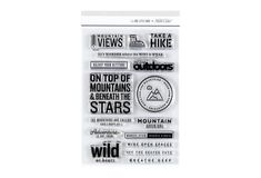 The mountains are calling, and we must go! Take a hike in the wild outdoors and then document your adventures with the Mountain stamp set. Perfect for crafters