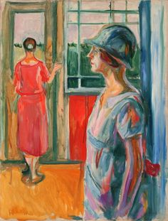 Edvard Munch, Two Women on a Veranda, 1923-192