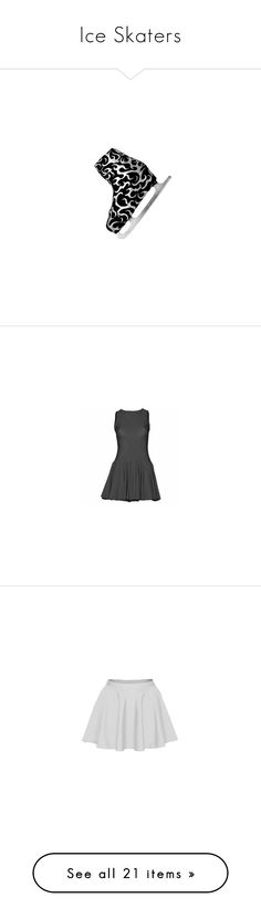 """""""Ice Skaters"""" by dancing-inthe-street ❤ liked on Polyvore featuring shoes, costume, silver shoes, dresses, dance, dancer, lane, lycra dress, spandex dress and skirts"""