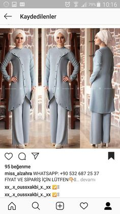 Modest Fashion Hijab, Abaya Fashion, Fashion Dresses, Muslim Women Fashion, Islamic Fashion, Hijab Dress Party, Hijab Outfit, Hijab Style, Hijab Chic