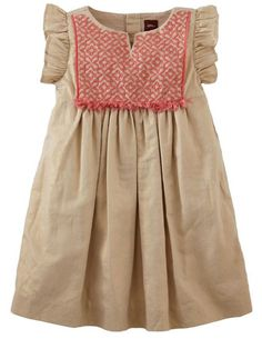 | Tea Collection 'Nabila Sparkle' Flutter Sleeve Dress is a Boho Dress your daughter will love |