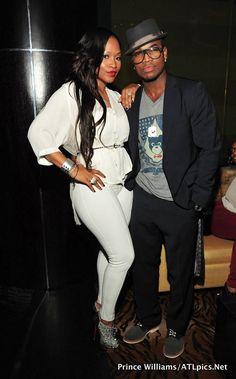 Ne-Yo and his fiancee' Monyetta Shaw