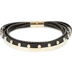 Givenchy Multi-row leather and brass choker ($510) ❤ liked on Polyvore featuring jewelry, necklaces, layered chain necklace, multi strand necklace, multiple chain necklace, knot jewelry and multi row necklace