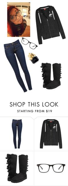 """""""Untitled #317"""" by alissa-williamson ❤ liked on Polyvore featuring Frame Denim, NIKE, UGG Australia and Marc Jacobs"""