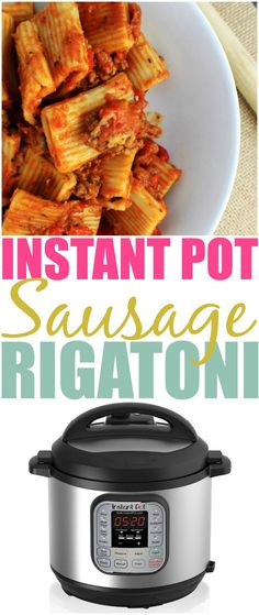 If you have an Instant Pot and love pasta you must try my Instant Pot Sausage Rigatoni Pasta recipe. It's easy and delicious, the whole family will love it.