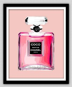 SALE Wall Decor - Chanel - Chanel Print - Modern Home Decor - Chanel perfume Perfume Chanel, Pink Perfume, Perfume Bottles, Perfume Fragrance, Fragrances, Pictures For Sale, Home Decor Pictures, Coco Chanel, Chanel Print