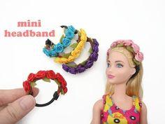 tutorial: flower headband for dolls Sewing Barbie Clothes, Barbie Dolls Diy, Barbie Clothes Patterns, Barbie Doll House, Diy Doll, Doll Crafts, Clothing Patterns, Baby Dolls, Rose Headband