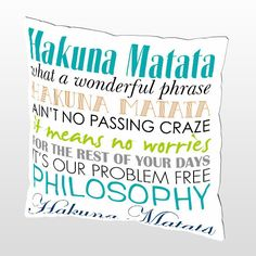 Printable Hakuna Matata Lyrics LION KING Artwork by JaydotCreative