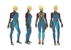 ArtStation - Zero Suit Character Rotation, Anna Fehr