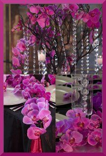 1000 images about une jolie table fuchsia on pinterest for Decoration florale
