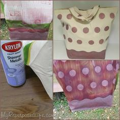 How to Spray Paint a Tote Bag with Krylon Shimmer Metallic Spray paint