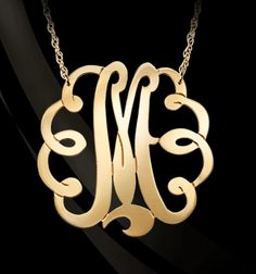 43eee48e82ca Free Form Diamond Lace Monogram Necklace. This would make a perfect ...