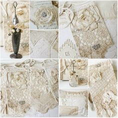 DIY:: Vintage Lace Bags and other great tutorials