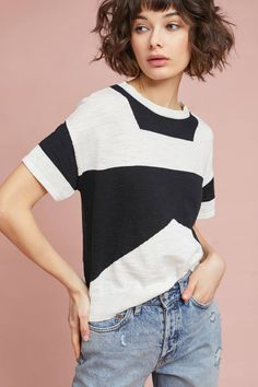 Chic NEW Anthropologie Tabula Rasa Kidal Colorblock Linen Tee S/S Sweater Size XS womens Sweaters from top store Tabula Rasa, Anthropologie, Modern Hairstyles, Pullover, Women Empowerment, Color Blocking, Short Hair Styles, Summer Outfits, Sweaters For Women