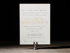 modern letterpress invitations023 Bella Figura 2014 Letterpress Invitation Collection