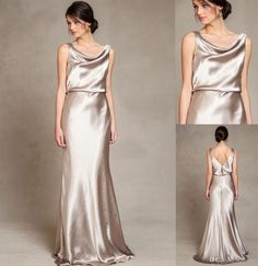 Modest Silver Satin Sheath Bridesmaid Dresses With Scoop Neck Sexy Backless 2016 Summer Country Garden Maid Of Honor Wedding Gowns Cheap Short Gowns Teen Bridesmaid Dresses From Whiteone, $77.09| Dhgate.Com