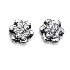 Earring Posy rhod. crystal $45.90 Heart Ring, Cufflinks, Crystals, Earrings, Accessories, Jewelry, Ear Rings, Stud Earrings, Jewlery