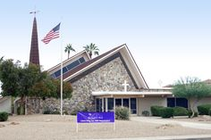 Front of church with 50th anniversary banner