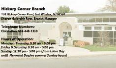 Hickory Corner Branch - 138 Hickory Corner Road, East Windsor, NJ 08520