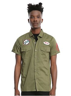 Bounty hunter by day, fighter mechanic by night // Star Wars Boba Fett Woven Button Up
