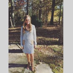 """I'm so glad we live in a world where there are Octobers. How perfect does this wedding attendee look in her MM """"Marshmallow Fireside"""" cowl neck dress."""