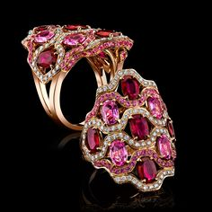 Ruby and Pink Sapphire Bella Ring by Robert Procop