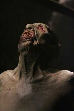 """Wendigo: The mythos surrounding this monster varies with each tribe of the Algonquian languages, among which tribes are the Cree, Ojibwa, Montagnais and others. As cited on Wikipedia is the Ojibwa description of the Wendigo:    """"Gaunt to the point of emaciation, its desiccated skin pulled tautly over its bones. With its bones pushing out against its skin, its complexion the ash gray of death, and its eyes pushed back deep into their sockets, the Wendigo looked like a gaunt skeleton recently…"""