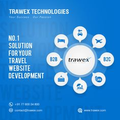 Trawex technologies gives the No.1 solution for your travel website development . we will develop your website with attractive design,logo with secure backend process. we will make your website visible in top search engines.