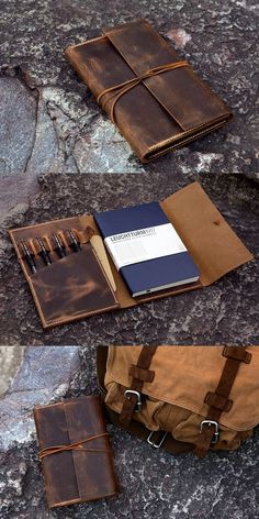 Leather Book Covers, Leather Books, Leather Cover, Real Leather, Diy Leather Journal Cover, Custom Leather, Vintage Leather, Leather Bound Journal, Leather Key