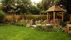 Image result for wide garden design