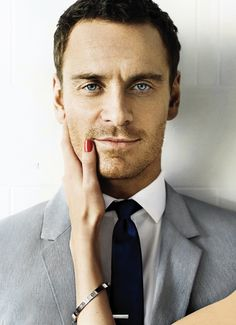 Michael Fassbender by Mario Testino for GQ June 2012- Christian Grey?