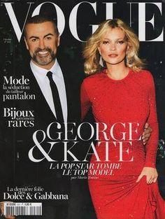GEORGE MICHAEL ET KATE MOSS DANS VOGUE CE MOIS D'OCTOBRE 2012